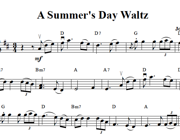 Summer's Day Waltz Solo Violin Sheet Music